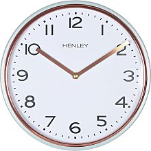 Stanford 25cm Wall Clock Henley Colour: Grey/Copper