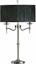 Stanford lamp, nickel, black lampshade
