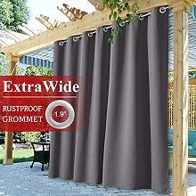 StangH Extra Wide Outdoor Curtain for Porch, Heavy
