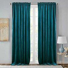 StangH Teal Velvet Curtains Drapes - Velvet