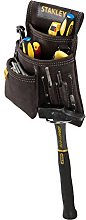 STANLEY Leather Tool Pouch, Double Pocket Storage