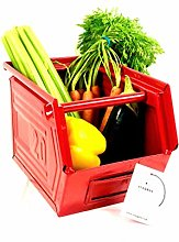 Staqbox Kitchen Storage Box Retro Metal Stackable