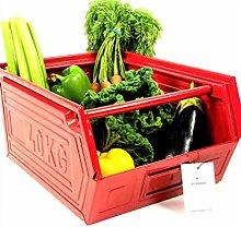 Staqbox Kitchen Storage Box Retro Metal Stackable