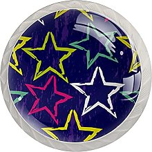 Star, 4 Pack Cabinet Knobs Solid Drawer Knobs