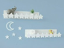 Star And Moon Shelf Set