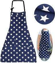 Star Apron with Pocket Adjustable Cooking Apron
