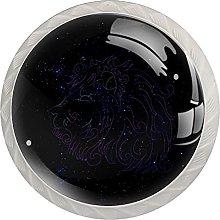 Star Black 4pcs Door Knob, Round Kitchen Door