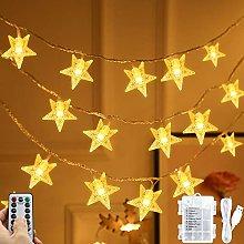 Star Fairy Lights, 45 ft 80 LED String Fairy