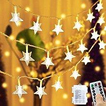Star Fairy Lights Battery Powered,23Ft 50LED Star