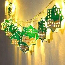 Star String Lights for Eid Decorations, Mubarak