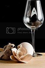 Star Trek 1 Wine Glass. Matching Flute Glasses,