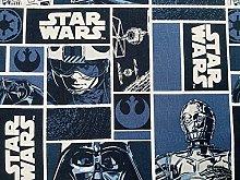 Star Wars Fabric - Black Grey Darth Vader Fabric -