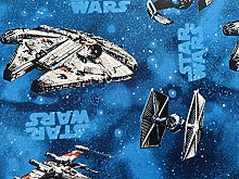 Star Wars Fabric - Blue Millennium Falcon Fabric -