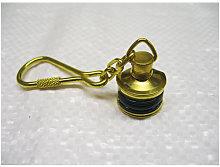 Starboard Navigation Light Keyring, Brass - Key