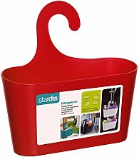 stardis Shower Basket Red with Hook Hanging Caddy