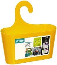 stardis Shower Basket Yellow with Hook Hanging