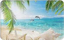 Starfish Beach Sea Palms Welcome Door Mat Indoor