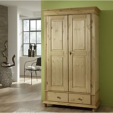 Stark 2 Door Wardrobe August Grove Colour: Antique