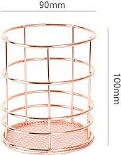 STARKWALL Copper Storage Basket Cosmetic Organizer