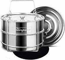 Starpuxx Stackable Steamer Insert Pans - For 6/8