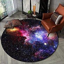 Starry Night Round Rugs, Universe Space Nebula