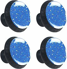 Stars Blue Starry Sky Cabinet Door Knobs Handles