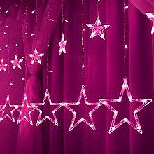 Stars Curtain Lights, 12 Stars 138 LED Stars