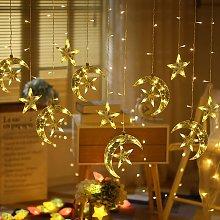 Stars Curtain String Lights 138 LED Twinkle Window