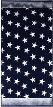 Stars Hand Towel (Set of 2) Dyckhoff Colour: Navy