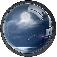 Stars Moon Sea with Lighthouse Drawer Pull Handle