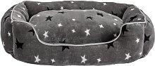 Stars Plush Square Bed - Medium