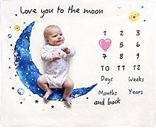 starshop Baby Monthly Milestone Blanket Girl Or