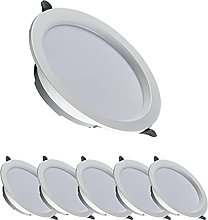Starsmyy 6 Pack Led Recessed Ceiling Light 6w