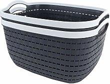 STARVAST 2 Pack Plastic Storage Basket, Portable