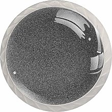 Static 4 Pack Glass Drawer Knobs- Round Shape