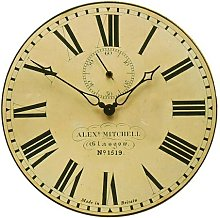 Station Wall Clock with Seconds Hand - 36cm