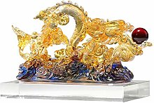 Statues Crystal Clear Dragon Decoration Zodiac