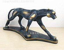 Statues,Figurine Animal Statue Ornaments Leopard