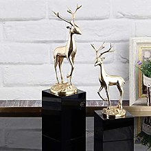 Statues,Living Room Copper Elk Ornaments Home