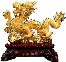Statues Resin Dragon Decoration Chinese Zodiac
