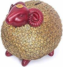 Statues Zodiac Sheep Statue Creative Piggy Bank