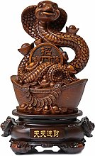 Statues Zodiac Snake Ornaments Collectible