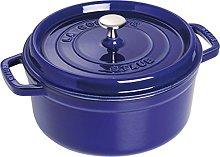 STAUB 40510-283-0 Cocotte Round 24cm Dark Blue