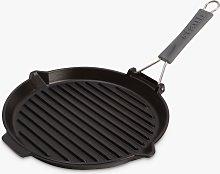 STAUB Cast Iron Round Grill Pan, Black, Dia.27cm