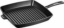 STAUB Cast Iron Square American Grill Pan, Black,