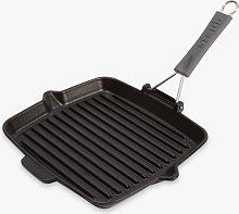 STAUB Cast Iron Square Grill Pan, Black, 24cm