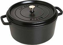 STAUB Cocotte Round 30cm Black