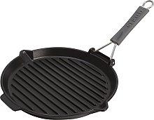 STAUB Grill pan Round 27cm Black