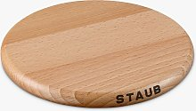 STAUB Round Magnetic Wooden Trivet, Natural