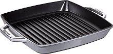 STAUB Square Grill Pan, 33 cm, Graphite Grey